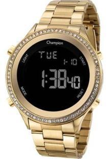 Relógio Champion Digital Ch40222H Feminino - Feminino-Dourado