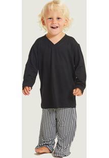 Pijama Longo Malha Himalaia Kids Masculino