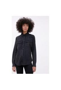 Camisa Jeans Básica Preto | Blue Steel | Preto | M