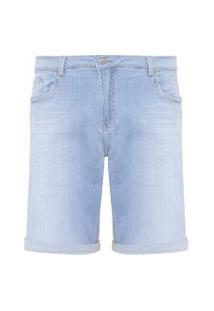 Bermuda Masculina Jeans Five Pockets - Azul