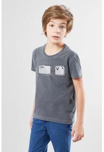 Camiseta Infantil Ctrl V Reserva Mini Masculina - Masculino