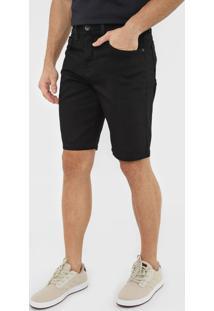 Bermuda Jeans Quiksilver Reta Every Preta - Preto - Masculino - Dafiti