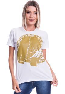 Camiseta Jazz Brasil Barefoot Branco - Branco - Feminino - Algodã£O - Dafiti
