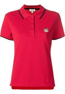 Kenzo Camisa Polo Mangas Curtas - Vermelho
