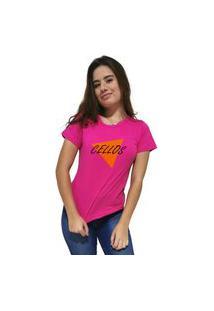 Camiseta Feminina Cellos Nacho Premium Rosa