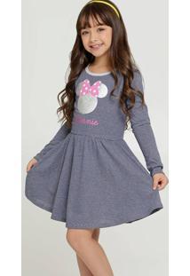 Vestido Infantil Listrado Minnie Disney