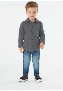 Camisa Up Baby Infantil Cinza