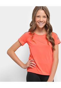 Camiseta Infantil Adidas Mc Yg Tr Cool - Feminino-Coral