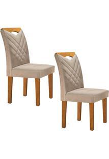 Conjunto Com 2 Cadeiras Oxford Ypê E Jacquard