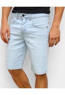 Bermuda Jeans Quiksilver Every Gang Masculina - Masculino-Azul Claro