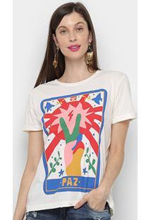 Camiseta Cantão Classic Paz Feminina - Feminino