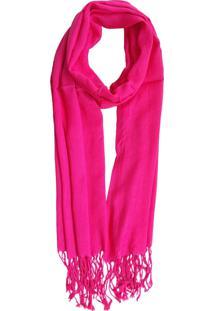 Cachecol Bag Dreams Com Franja Rosa Pink