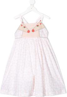 Stella Mccartney Kids Vestido Curto Giraffe Spots - Rosa