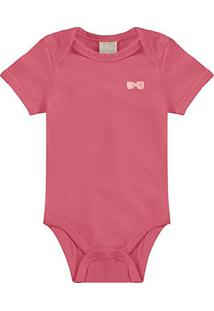 Body Bebê Milon Cotton Liso Feminino - Feminino-Rosa Escuro