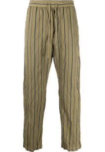 Barena Striped Drawstring Trousers - Neutro