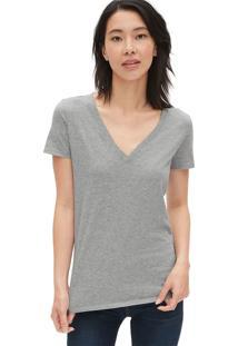 Camiseta Gap Básica Cinza