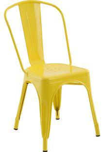 Cadeira Sem Braço Iron-Rivatti - Amarelo