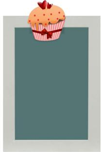 Quadro De Aviso Lousa Cupcake I 25X35Cm Colorido Kapos