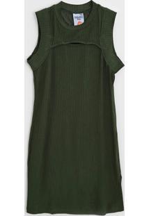 Vestido Colcci Fun Infantil Recorte Verde - Tricae