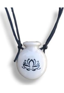 Colar Aromatizador Cantil Flor De Lotus Branco Difusor Pessoal Ortega