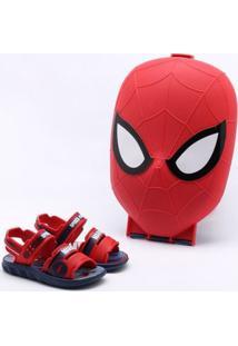 Sandália Marvel Infantil Spider-Man Vermelha