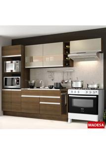 Cozinha Compacta 7 Portas Safira G20180075Bst Rustic - Madesa