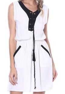 Vestido Bon Amarração Branco