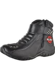 Bota Motociclista Slim Soft Bell-Boots Cano Baixo 3500 Preta