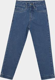 Calça Jeans Juvenil Malwee Básica Masculina - Masculino-Azul