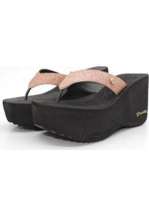 Tamanco Barth Shoes Sorvete Glitter Feminino - Feminino-Bronze