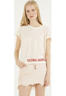 "Camiseta ""Global Warming!"" - Off White & Vermelhapop Up"