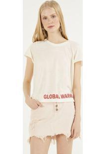 "Camiseta ""Global Warming!"" - Off White & Vermelhapop Up"