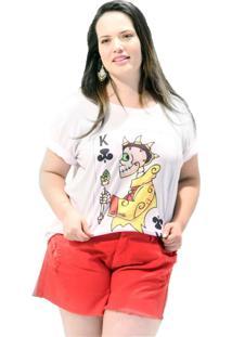 Camiseta Rei De Paus Plus Size Branco