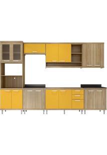 Cozinha Compacta Multimóveis Sicília 5834.132.815.695.610 Argila Amarelo Se
