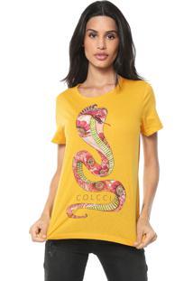 Camiseta Colcci Cobra Amarela