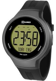 Relógio Digital Quartz Xmppd557Fxpx- Preto & Cinza Escurorient