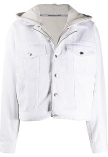 Alexander Wang Jaqueta Jeans Com Zíper E Capuz - Branco