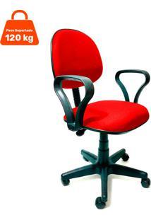 Cadeira De Escritório Secretária Mazikeen Ajustável Vermelha