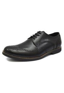 Sapato Social Oxford Shoes Grand Smooth Preto Tamanho Grande