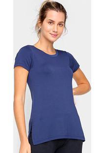 Camiseta Dooplex Alongada Fenda Feminina - Feminino