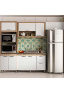 Cozinha Compacta Sem Tampo 4 Peças 5720-T11 Toscana - Multimóveis - Argila Acetinado / Branco Acetinado