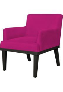 Poltrona Decorativa Para Sala De Estar E Recepção Beatriz Suede Pink - Lyam Decor