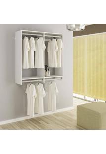 Closet Cabideiro Sem Portas Quarto Casal E Solteiro Kt1205 - Getama Móveis