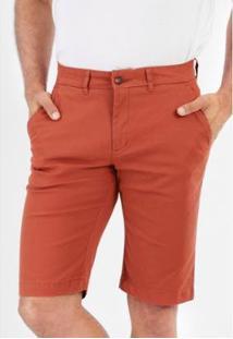 Bermuda Sarja Chino Slim Com Elastano Masculina - Masculino-Marrom