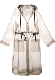 Proenza Schouler White Label Jaqueta Impermeável Transparente - Cinza