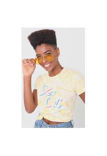 Camiseta Aeropostale Tie Dye Amarela