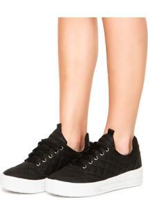 Tênis Dafiti Shoes Flatform Matelassê Preto