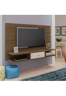 Painel Para Tv Até 50 Polegadas Studio Amêndoa E Off White