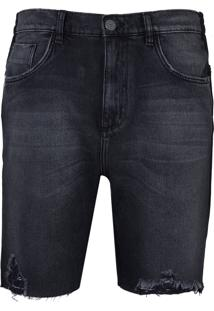 Bermuda John John Clássica Rosselot Jeans Preto Masculina (Jeans Black Medio, 36)