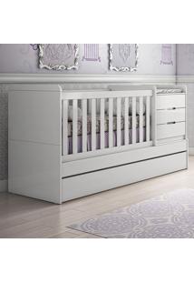 Berço/Bicama Multifuncional Cléo - Carolina Baby - Branco